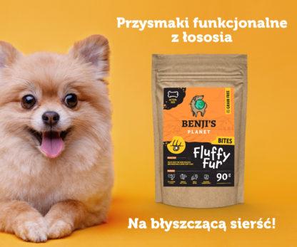 Przysmaki funkcjonalne z łososia dla psów na zdrową sierść