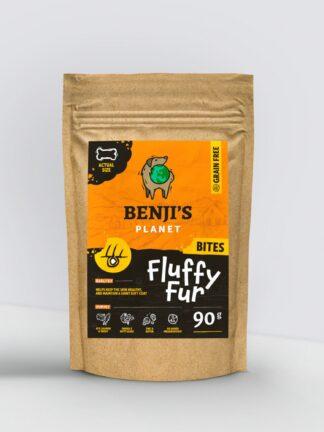 Przysmaki funkcjonalne na zdrową sierść Benji's Fluffy Fur opakowanie 90g